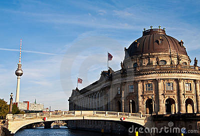 Bode museum and tv tower Editorial Image