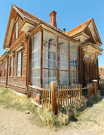 Bodie ghost town, building in arrested decay