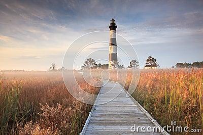 Bodie Island Lighthouse Fog Hatteras NC