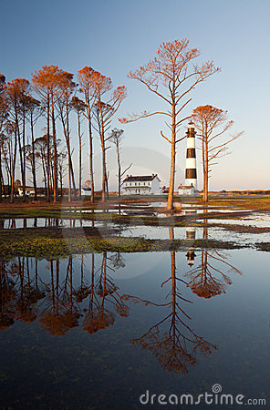 Bodie Island Lighthouse OBX Golden Reflections