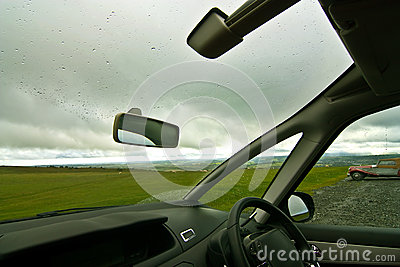 view from car