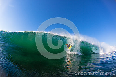 Body Boarder Drop Hollow Wave Editorial Photography