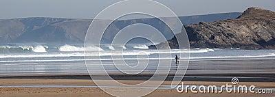 Body boarder at Porth Beach