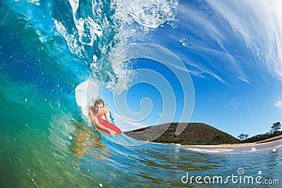 Body Boarder Surfing