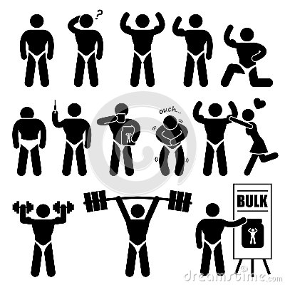 Body Builder Bodybuilder Muscle Man Pictogram