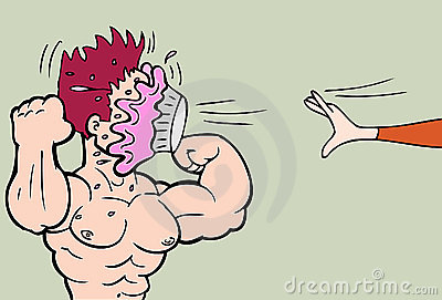 Body Builder Pie Fight