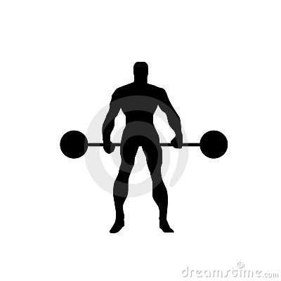 Body builder vector silhouette