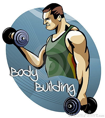 Body building training session