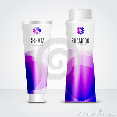 Free Body Care Cosmetics Designs Tubes Template. Packaging Templates Of Cream, Gel And Shampoo Stock Image - 85976541