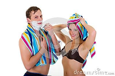 Body care, couple