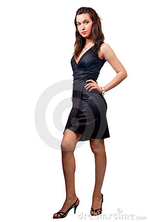 Body of elegant sexy woman isolated on white