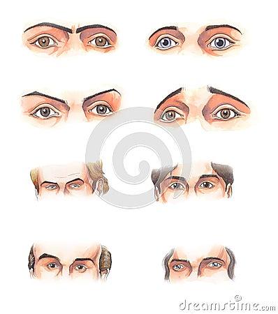 Body parts: eyes