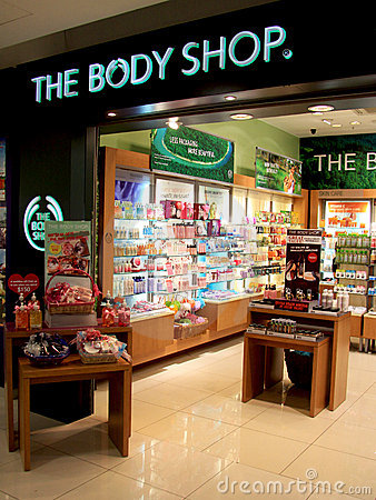 The Body Shop outlet Editorial Photography