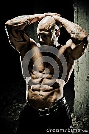 Bodybuilder Abdominal Muscles