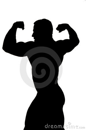 Bodybuilder cutout