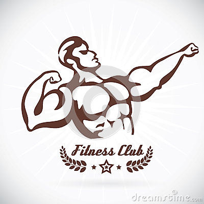 Bodybuilder Fitness Model Illustration, Sign, Symb