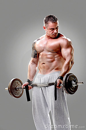 Free Bodybuilder Lifting Weights Stock Photos - 22721603