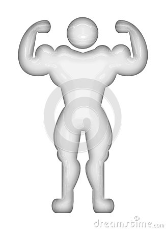 Bodybuilder pictogram