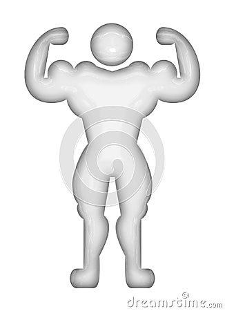 Bodybuilder pictogram