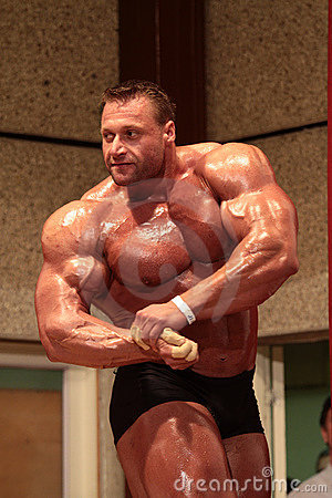 Bodybuilder posing Editorial Photo