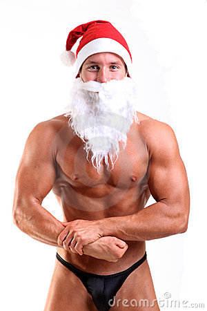 Bodybuilder santa claus