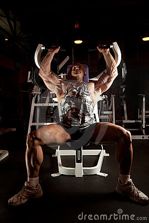 Bodybuilder In Training Room Stock Images - Image: 11140774