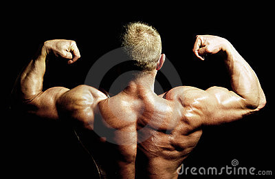 Bodybuilders back