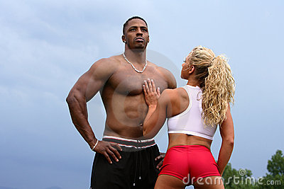 bodybuilders couple