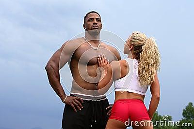 bodybuilders couple