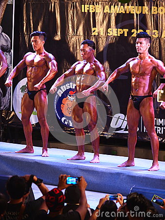 Bodybuilding competition in Khon Kaen Thailand 2013 Editorial Image