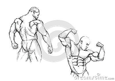 Bodybuilding duo