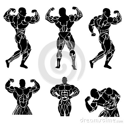 Free Bodybuilding, Power Lifting, Strongman, Gym, Fitness, Vector Illustration In Flat Design Stock Photography - 63240212