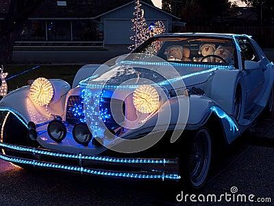 Boże Narodzenie dekorujący Fikcyjny Zimmer luksusu samochód