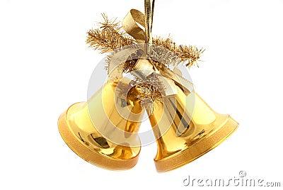 Boże Narodzenie złociści dzwony