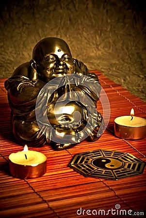 Boedha en ying yang