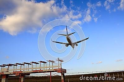 Boeing 737 Jet Plane Ready for Landing