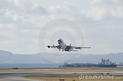 Boeing 747 plane starting Editorial Photo