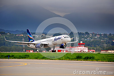 Boeing-757-200 of Yakutia airlines Editorial Photography