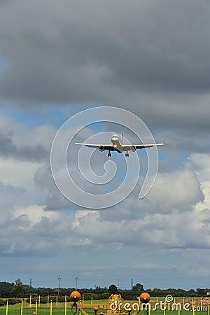 Boeing 757 on it s final approach