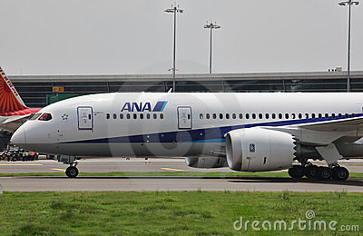 Boeing 787 Dreamliner Editorial Stock Photo