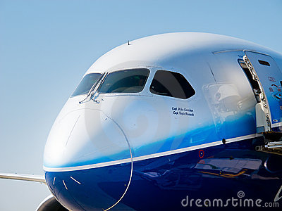 Boeing 787 Dreamliner nose Editorial Stock Image