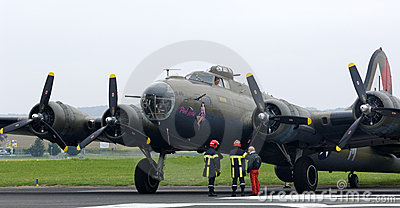 The Boeing B-17 Flying Fortress i Editorial Photography