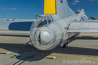 Boeing B-17 Tail Gunner Turret Editorial Stock Image