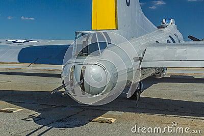 Boeing B-17 Tail Gunner Turret Editorial Stock Image