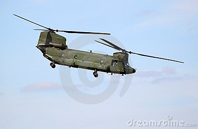 Boeing CH-47D Chinook Helicopter Editorial Stock Image