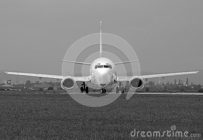 Boeing in greyscale