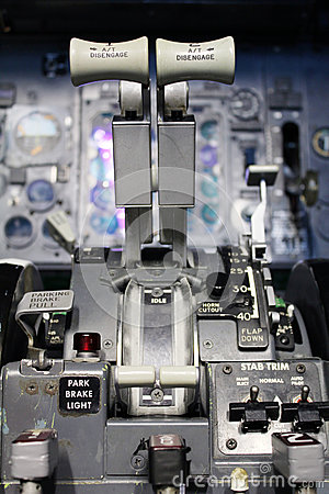 Boeing thrust levers