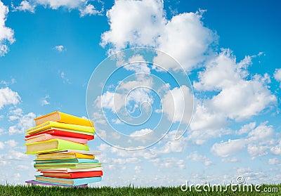Boek op het gras