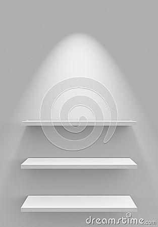 Boekenrekken op muur stock afbeelding beeld 32101161 for Lichtgrijze muur