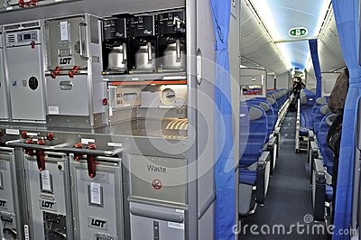 galley airplane seats boening 787 dreamliner editorial photography image 32964167 252